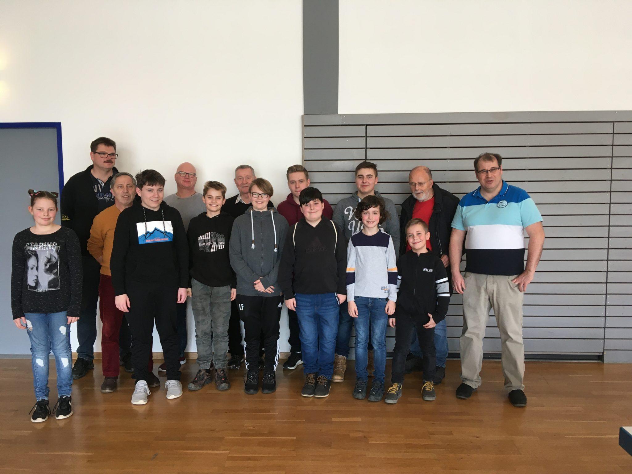 Organisationsteam KJPT2020 und Teilnehmer Leinzell